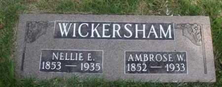 WICKERSHAM, AMBROSE W. - Baxter County, Arkansas   AMBROSE W. WICKERSHAM - Arkansas Gravestone Photos