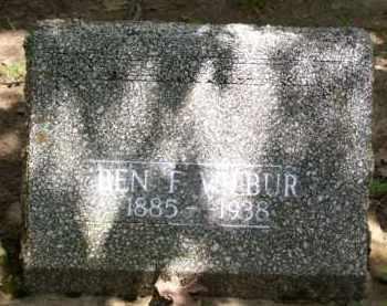 WILBUR, BEN F. - Baxter County, Arkansas | BEN F. WILBUR - Arkansas Gravestone Photos