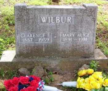 WILBUR, CLARENCE EDWARD - Baxter County, Arkansas   CLARENCE EDWARD WILBUR - Arkansas Gravestone Photos