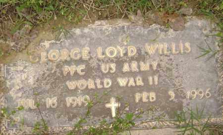 WILLIS (VETERAN WWII), GEORGE LOYD - Baxter County, Arkansas | GEORGE LOYD WILLIS (VETERAN WWII) - Arkansas Gravestone Photos