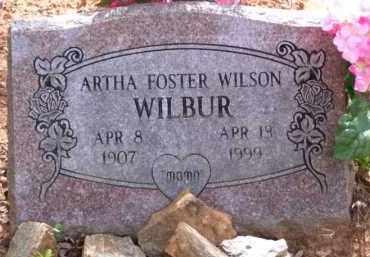 WILBUR WILSON, ARTHA IRENE - Baxter County, Arkansas | ARTHA IRENE WILBUR WILSON - Arkansas Gravestone Photos