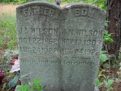 WILSON, J. A. - Baxter County, Arkansas | J. A. WILSON - Arkansas Gravestone Photos