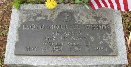 WOODS (VETERAN WWII), LLOYD MORRELL - Baxter County, Arkansas   LLOYD MORRELL WOODS (VETERAN WWII) - Arkansas Gravestone Photos