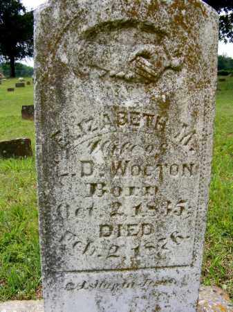 WOOTON, ELIZABETH - Baxter County, Arkansas | ELIZABETH WOOTON - Arkansas Gravestone Photos