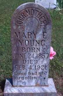 YOUNG, MARY E. - Baxter County, Arkansas | MARY E. YOUNG - Arkansas Gravestone Photos