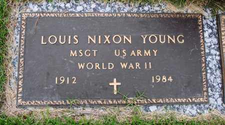 YOUNG (VETERAN WWII), LOUIS NIXON - Baxter County, Arkansas | LOUIS NIXON YOUNG (VETERAN WWII) - Arkansas Gravestone Photos