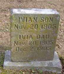 UNKNOWN, IVIA - Benton County, Arkansas | IVIA UNKNOWN - Arkansas Gravestone Photos