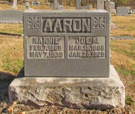 AARON, JOE W. - Benton County, Arkansas   JOE W. AARON - Arkansas Gravestone Photos