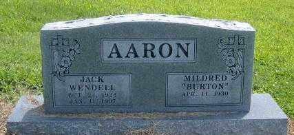 AARON, JACK WENDELL - Benton County, Arkansas   JACK WENDELL AARON - Arkansas Gravestone Photos