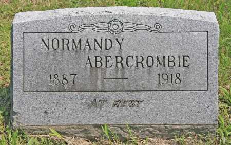 ABERCROMBIE, NORMANDY - Benton County, Arkansas | NORMANDY ABERCROMBIE - Arkansas Gravestone Photos