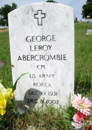 ABERCROMBIE (VETERAN KOR), GEORGE LEROY - Benton County, Arkansas | GEORGE LEROY ABERCROMBIE (VETERAN KOR) - Arkansas Gravestone Photos