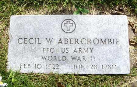 ABERCROMBIE (VETERAN WWII), CECIL W. - Benton County, Arkansas   CECIL W. ABERCROMBIE (VETERAN WWII) - Arkansas Gravestone Photos