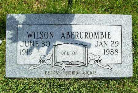 ABERCROMBIE, WILSON - Benton County, Arkansas | WILSON ABERCROMBIE - Arkansas Gravestone Photos