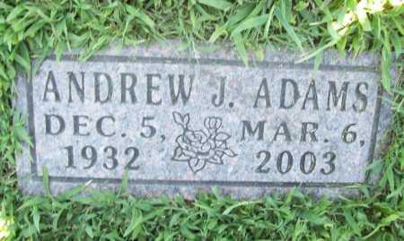 ADAMS, ANDREW J. - Benton County, Arkansas   ANDREW J. ADAMS - Arkansas Gravestone Photos