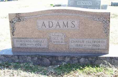 ADAMS, CHARLIE ELLSWORTH - Benton County, Arkansas | CHARLIE ELLSWORTH ADAMS - Arkansas Gravestone Photos