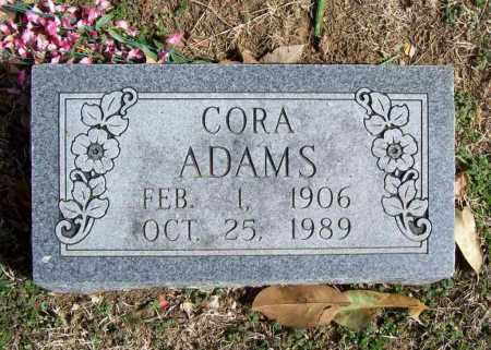WHITE ADAMS, CORA TENNESSEE - Benton County, Arkansas | CORA TENNESSEE WHITE ADAMS - Arkansas Gravestone Photos