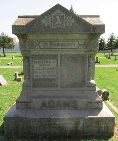 ADAMS, MARTHA J - Benton County, Arkansas | MARTHA J ADAMS - Arkansas Gravestone Photos