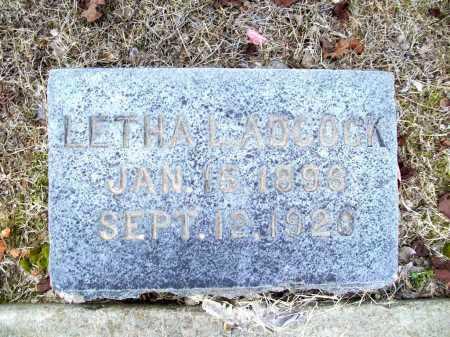 ADCOCK, LETHA L. - Benton County, Arkansas   LETHA L. ADCOCK - Arkansas Gravestone Photos