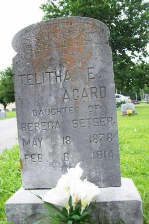 SETSER AGARD, TELITHA E. - Benton County, Arkansas | TELITHA E. SETSER AGARD - Arkansas Gravestone Photos