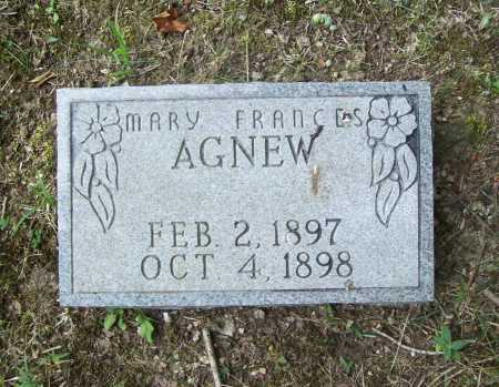 AGNEW, MARY FRANCES - Benton County, Arkansas | MARY FRANCES AGNEW - Arkansas Gravestone Photos