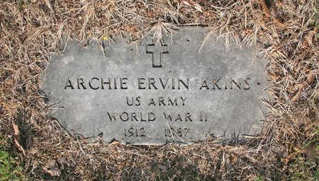 AKINS (VETERAN WWII), ARCHIE ERVIN - Benton County, Arkansas | ARCHIE ERVIN AKINS (VETERAN WWII) - Arkansas Gravestone Photos