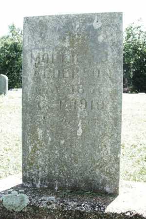 ALDERSON, MOLLIE J. - Benton County, Arkansas | MOLLIE J. ALDERSON - Arkansas Gravestone Photos