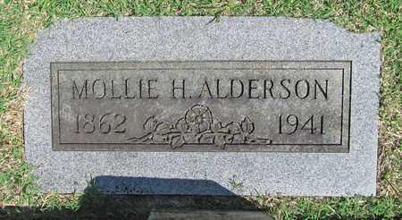 ALDERSON, MOLLIE H - Benton County, Arkansas | MOLLIE H ALDERSON - Arkansas Gravestone Photos