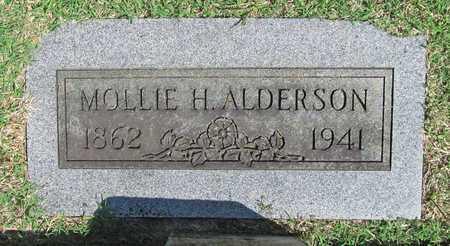 ALDERSON, MOLLIE H - Benton County, Arkansas   MOLLIE H ALDERSON - Arkansas Gravestone Photos