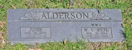 "ALDERSON (VETERAN WWI), W V ""PETE"" - Benton County, Arkansas 
