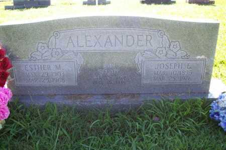 ALEXANDER, JOSEPH EDWARD - Benton County, Arkansas | JOSEPH EDWARD ALEXANDER - Arkansas Gravestone Photos