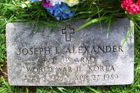 ALEXANDER (VETERAN 2 WARS), JOSEPH L. - Benton County, Arkansas | JOSEPH L. ALEXANDER (VETERAN 2 WARS) - Arkansas Gravestone Photos