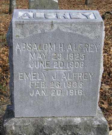 ALFREY (VETERAN UNION), ABSALOM H - Benton County, Arkansas | ABSALOM H ALFREY (VETERAN UNION) - Arkansas Gravestone Photos