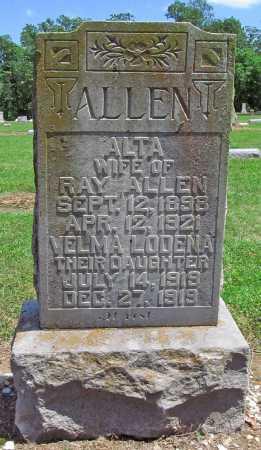ALLEN, ALTA - Benton County, Arkansas | ALTA ALLEN - Arkansas Gravestone Photos