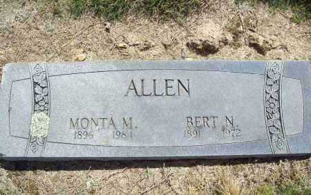 ALLEN, MONTA M. - Benton County, Arkansas | MONTA M. ALLEN - Arkansas Gravestone Photos