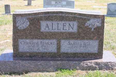 ELMORE ALLEN, CHRISTINE - Benton County, Arkansas | CHRISTINE ELMORE ALLEN - Arkansas Gravestone Photos