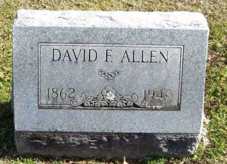ALLEN, DAVID F. - Benton County, Arkansas   DAVID F. ALLEN - Arkansas Gravestone Photos