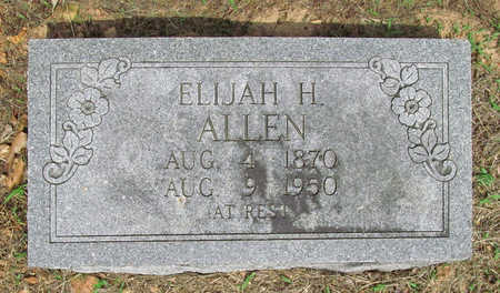 ALLEN, ELIJAH H - Benton County, Arkansas   ELIJAH H ALLEN - Arkansas Gravestone Photos