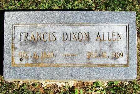 ALLEN, FRANCIS DIXON - Benton County, Arkansas   FRANCIS DIXON ALLEN - Arkansas Gravestone Photos