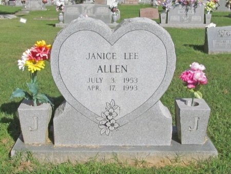 ALLEN, JANICE LEE - Benton County, Arkansas   JANICE LEE ALLEN - Arkansas Gravestone Photos