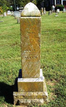 ALLEN, JULIA - Benton County, Arkansas   JULIA ALLEN - Arkansas Gravestone Photos