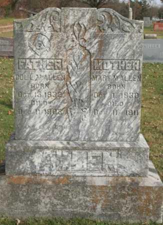 ALLEN, MARY M. - Benton County, Arkansas | MARY M. ALLEN - Arkansas Gravestone Photos
