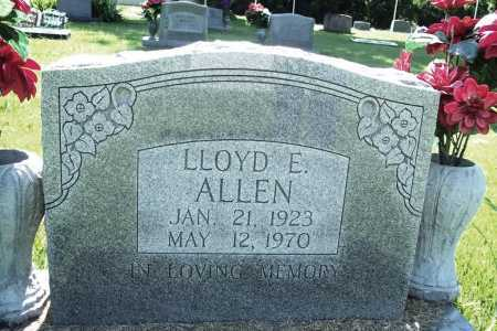 ALLEN, LLOYD E. - Benton County, Arkansas | LLOYD E. ALLEN - Arkansas Gravestone Photos