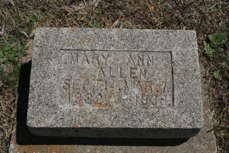 ALLEN, MARY ANN - Benton County, Arkansas   MARY ANN ALLEN - Arkansas Gravestone Photos