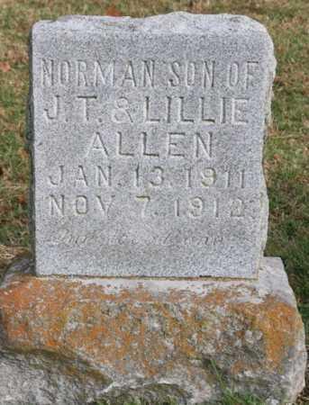 ALLEN, NORMAN - Benton County, Arkansas | NORMAN ALLEN - Arkansas Gravestone Photos