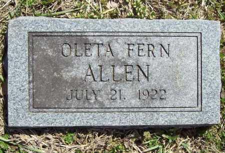 ALLEN, OLETA FERN - Benton County, Arkansas | OLETA FERN ALLEN - Arkansas Gravestone Photos