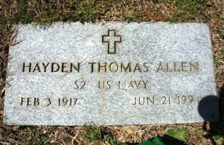 ALLEN (VETERAN), HAYDEN THOMAS - Benton County, Arkansas | HAYDEN THOMAS ALLEN (VETERAN) - Arkansas Gravestone Photos