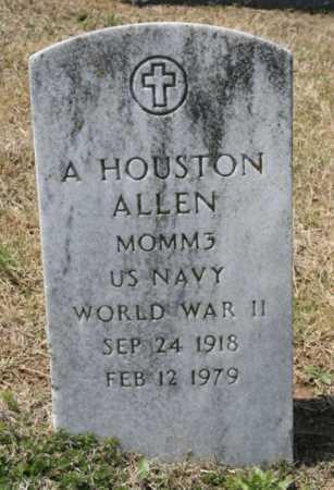 ALLEN (VETERAN WWII), A. HOUSTON - Benton County, Arkansas   A. HOUSTON ALLEN (VETERAN WWII) - Arkansas Gravestone Photos