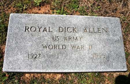 ALLEN (VETERAN WWII), ROYAL DICK - Benton County, Arkansas   ROYAL DICK ALLEN (VETERAN WWII) - Arkansas Gravestone Photos