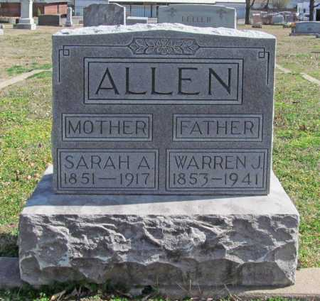 ALLEN, WARREN J - Benton County, Arkansas | WARREN J ALLEN - Arkansas Gravestone Photos