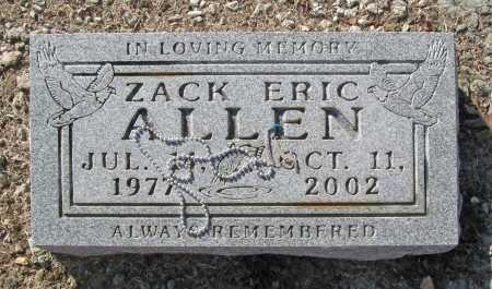 ALLEN, ZACK ERIC - Benton County, Arkansas   ZACK ERIC ALLEN - Arkansas Gravestone Photos